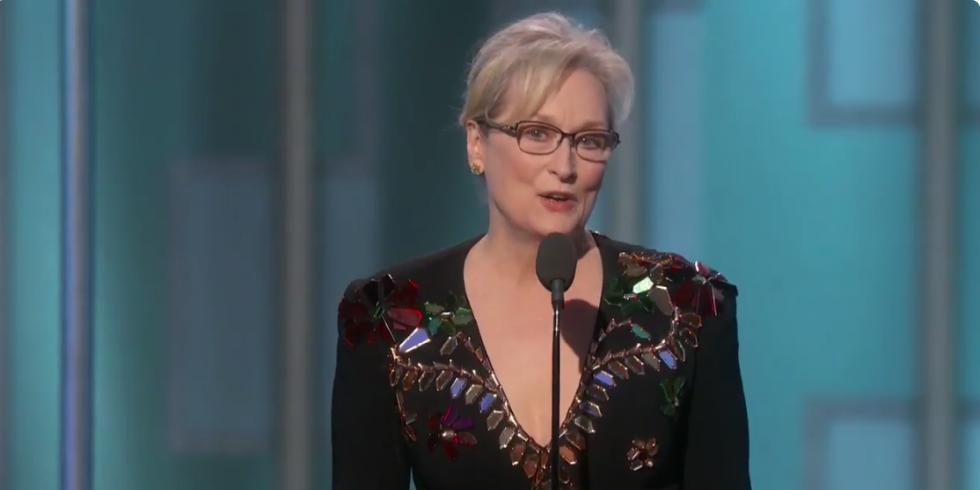 Meryl Streep critica Donald Trump em discurso no Globo de Ouro