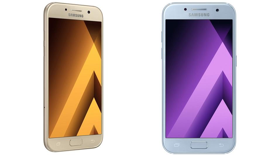 Samsung divulga novos celulares intermediários resistentes à água