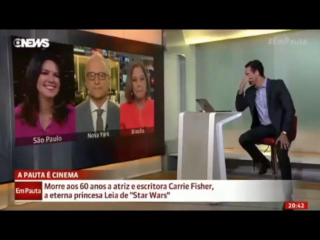 Jorge Pontual faz piada com morte de Carrie Fisher e gera indignação na internet