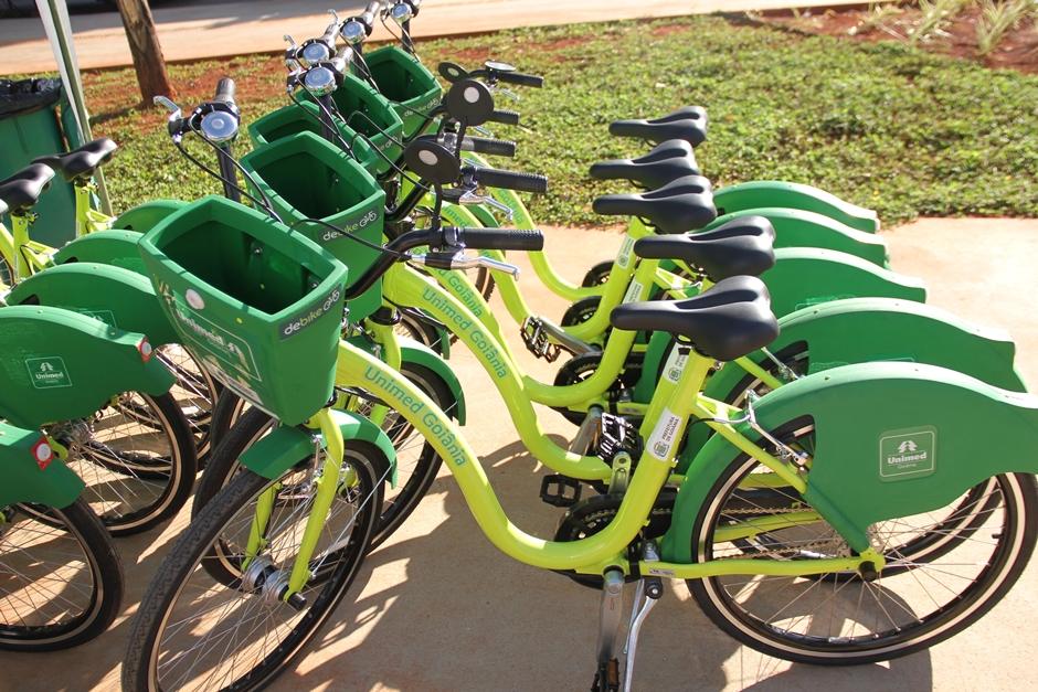 Número de bicicletas compartilhadas em Goiânia chega a 160