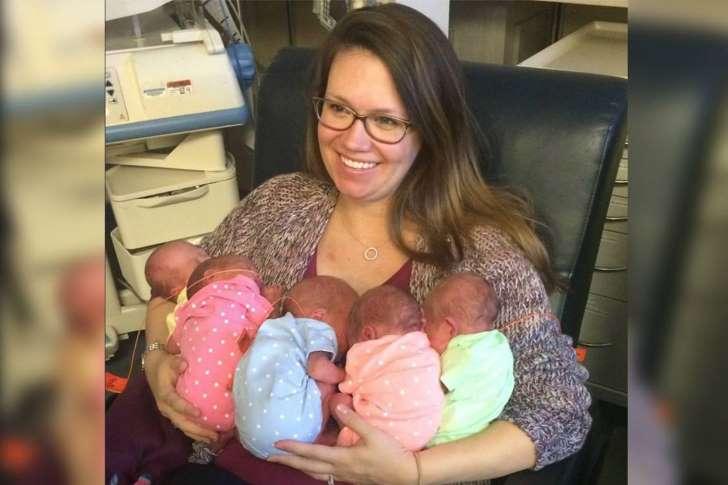 Mulher dá à luz quíntuplos nos EUA