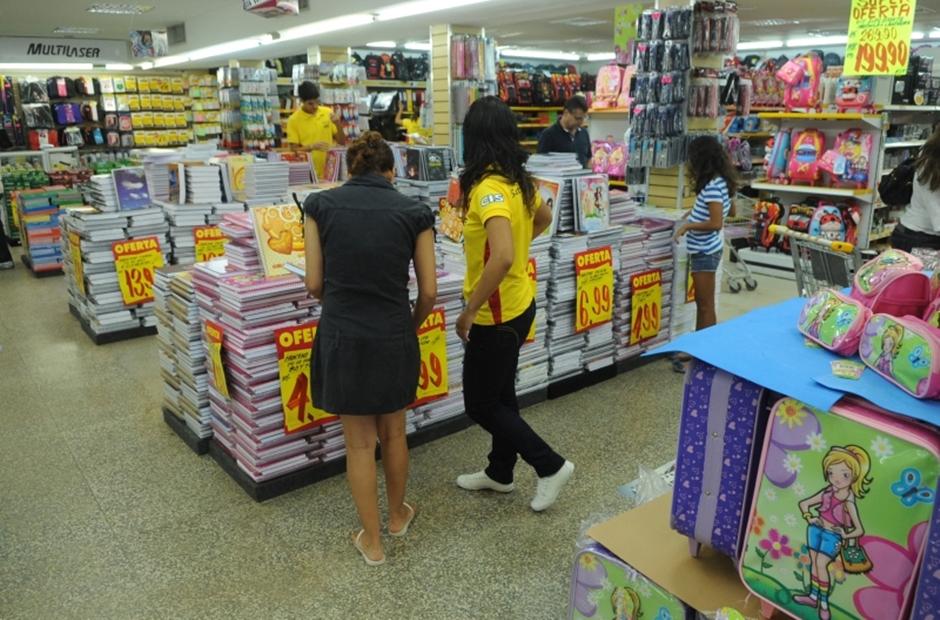 Preço do material escolar sobe 9,28% em Goiânia