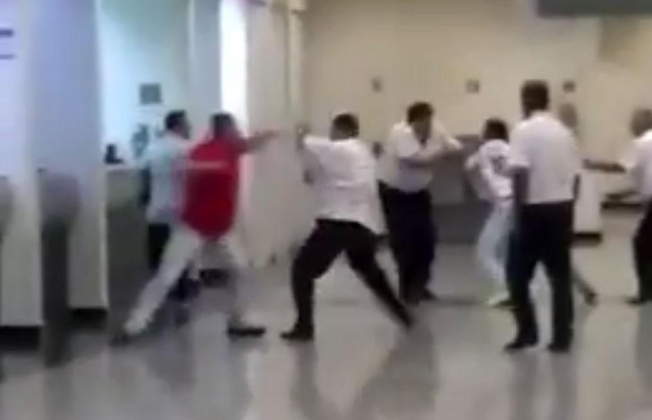 Briga de taxistas no Aeroporto de Goiânia. O caso aconteceu na noite deste sábado; assista