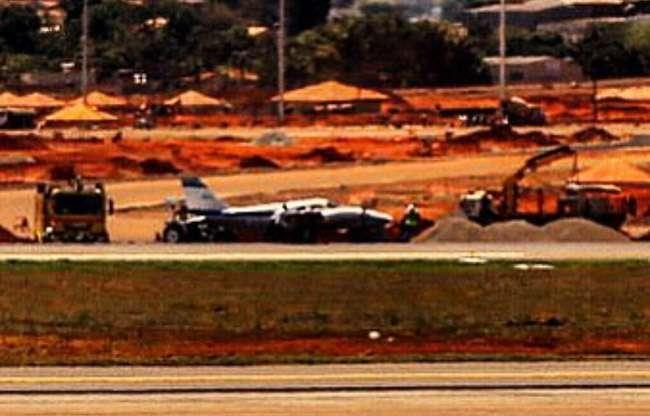 Aeroporto de Goiânia fecha após acidente com avião