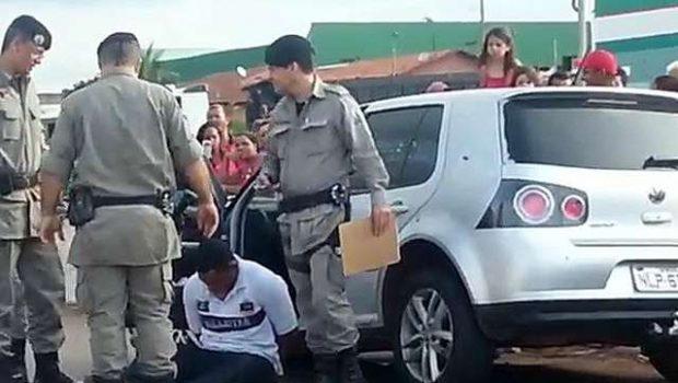 Homem é preso após perseguição policial
