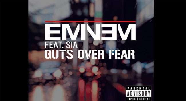 """Eminem divulga sua nova música de trabalho, """"Guts Over Fear"""""""