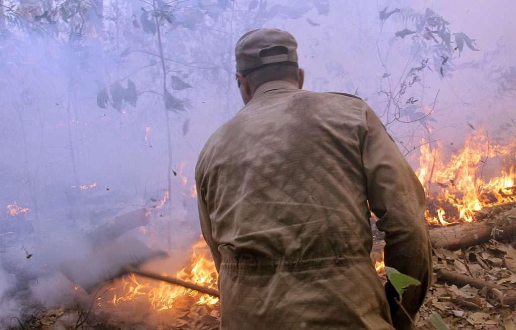 Incêndio já destruiu 70% do Parque Serra Azul em Barra do Garças