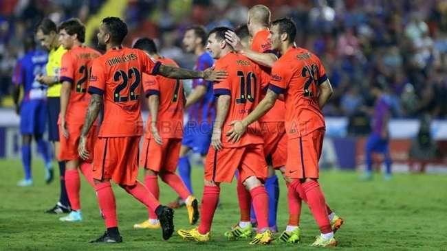 Barcelona faz 5 no Levante, mas Neymar sai machucado