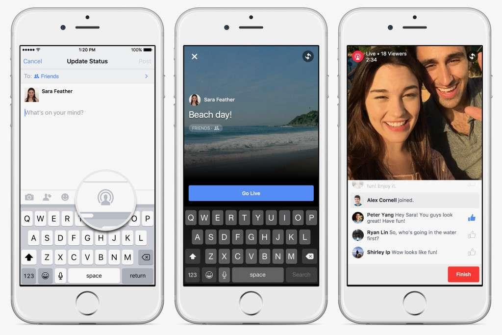 Facebook começa a fazer streaming nos EUA