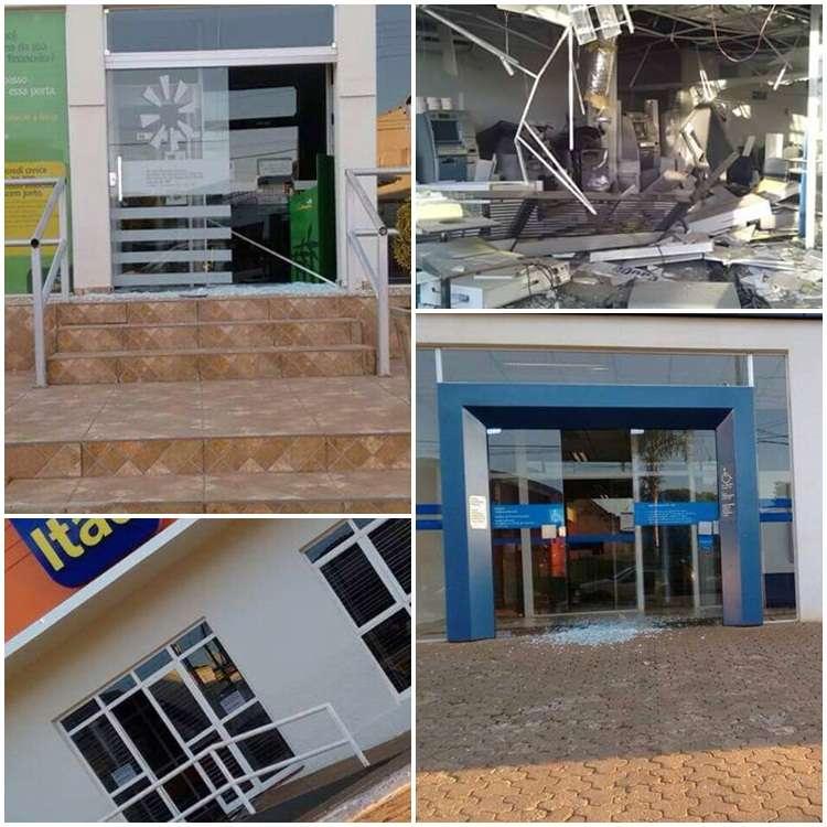Bandidos assaltam quatro agências bancárias em Orizona