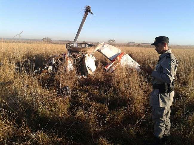 Uma pessoa morre em queda de avião em fazenda de Rio Verde