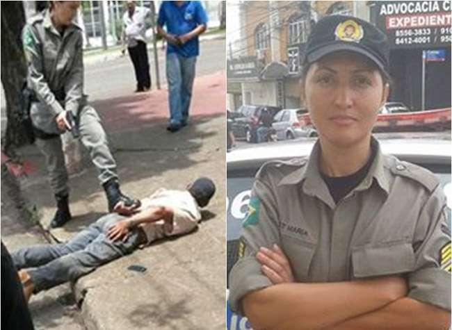 Em Anápolis, uma sargento da PM corre atrás de suspeito de homicídio e consegue prendê-lo