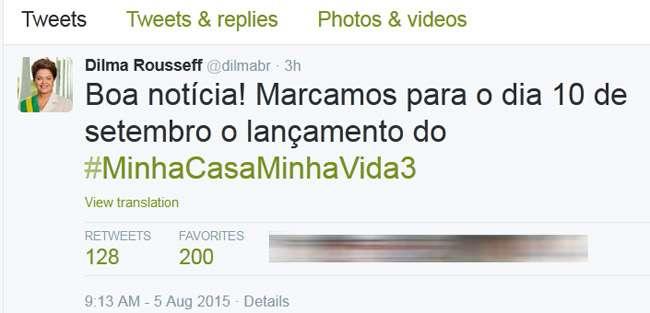 Terceira etapa do Minha Casa, Minha Vida será lançada em setembro, anuncia Dilma