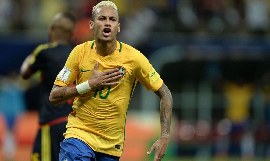 Neymar decide e Brasil bate a Colômbia em Manaus