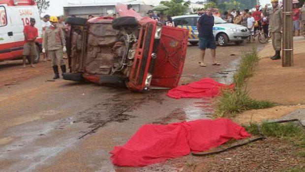 Acidente deixa três pessoas mortas em rua de Cristalina