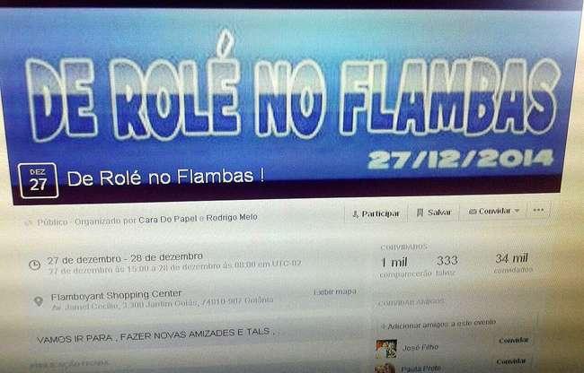 """Turma marca """"rolezinho"""" no Flamboyant para este sábado"""