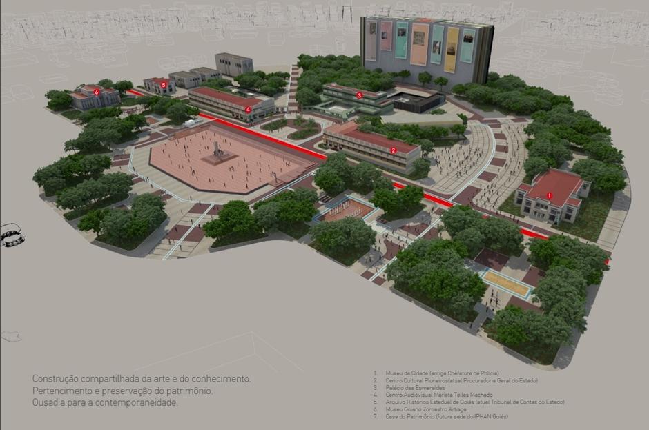 Projeto vai transformar Praça Cívica em um dos principais pontos culturais de Goiás