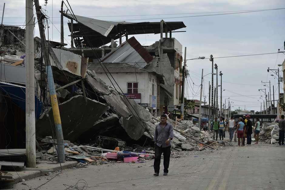 Equador tem novo tremor de terra de magnitude 6,8