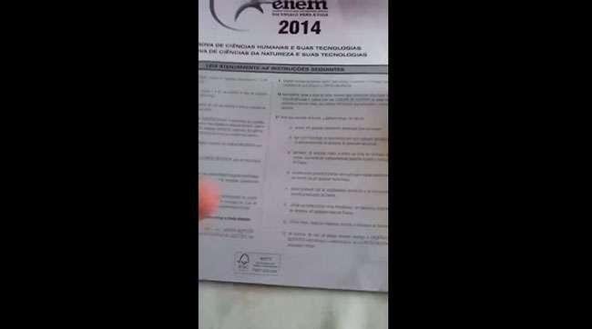 Vídeo com suposto vazamento de prova do Enem é falso, diz MEC