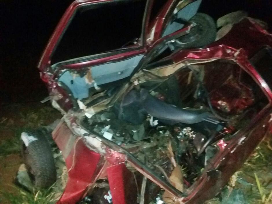 Acidente deixa cinco mortos e quatro feridos na BR-060, próximo a Guapó