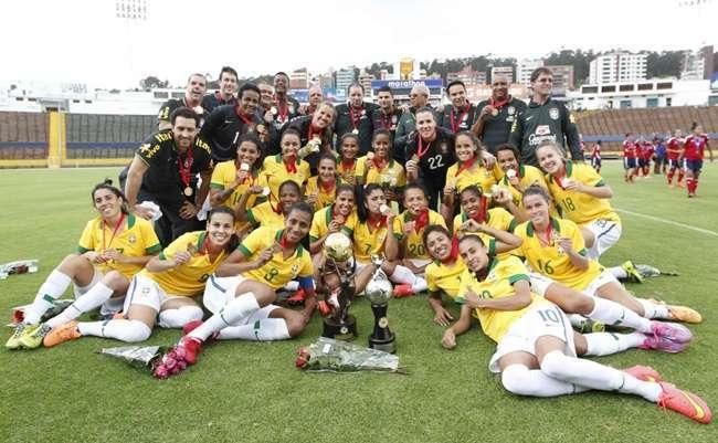 Seleção feminina empata e é campeã da Copa América