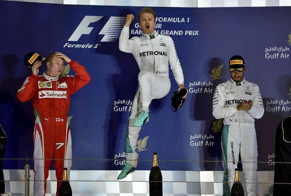 Rosberg vence no Bahrein; Massa termina em oitavo