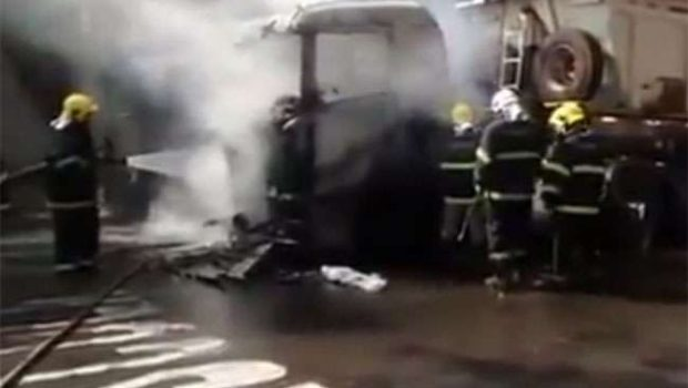 Homem é preso após atear fogo em caminhão no Setor Leste Universitário