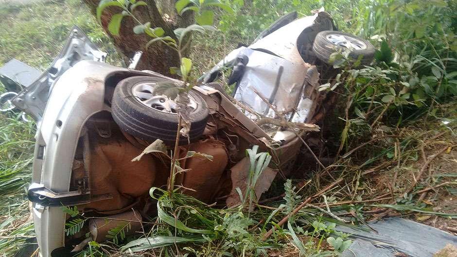 Três pessoas morrem após carro bater em árvore na BR-060