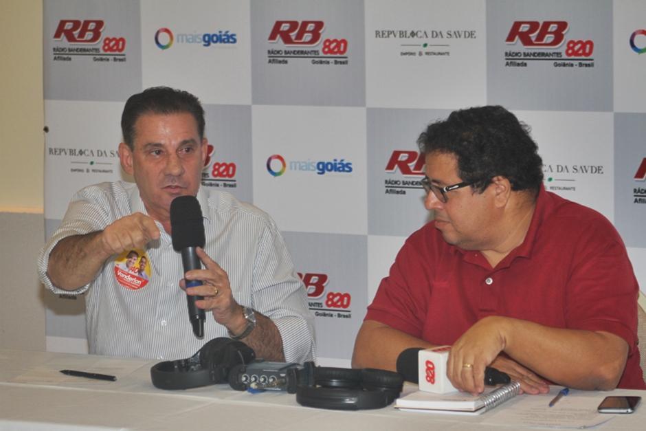 """Eu fiz uma das melhores saúdes do Brasil e não usei Organizações Sociais"", diz Vanderlan Cardoso"
