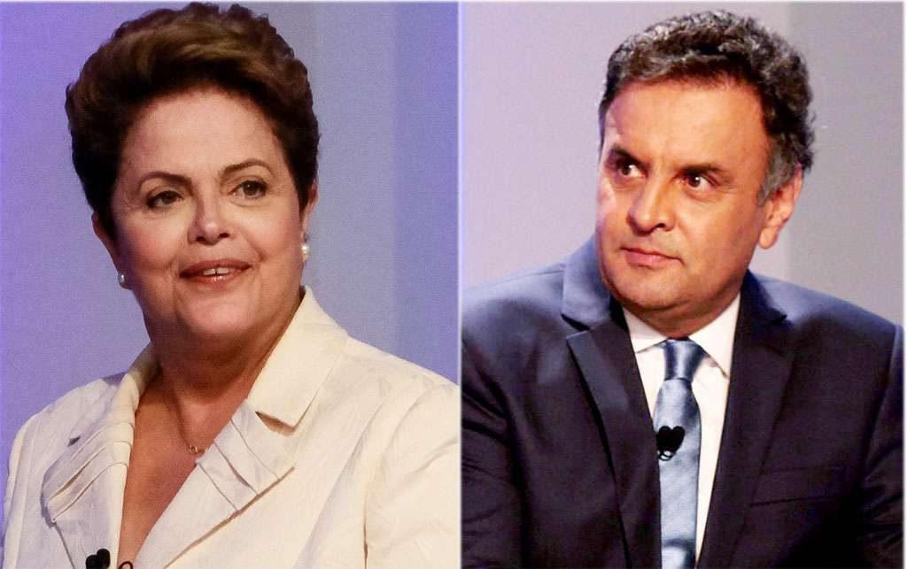 Aécio e Dilma empatam na 1ª pesquisa Ibope do 2º turno