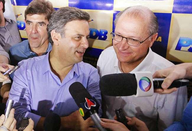 """Alckmin afirma acreditar em """"virada"""" de Aécio"""