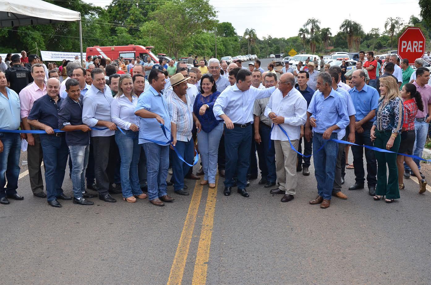 Marconi inaugura nova GO-326 e destaca ser  importante ligação entre Goiás e Mato Grosso