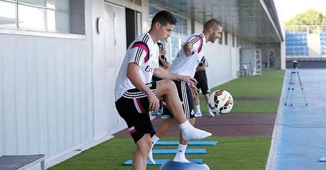 James Rodríguez se apresenta e faz 1º treino no Real