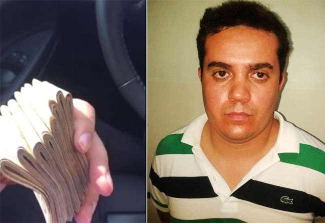 Suspeito de vender falsos cargos públicos ostenta dinheiro em vídeo; assista