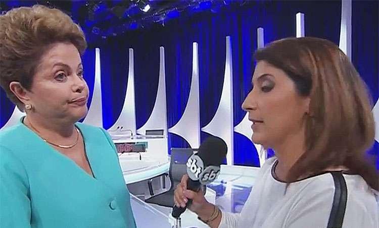 Dilma Rousseff passa mal após debate do SBT. Confira o vídeo