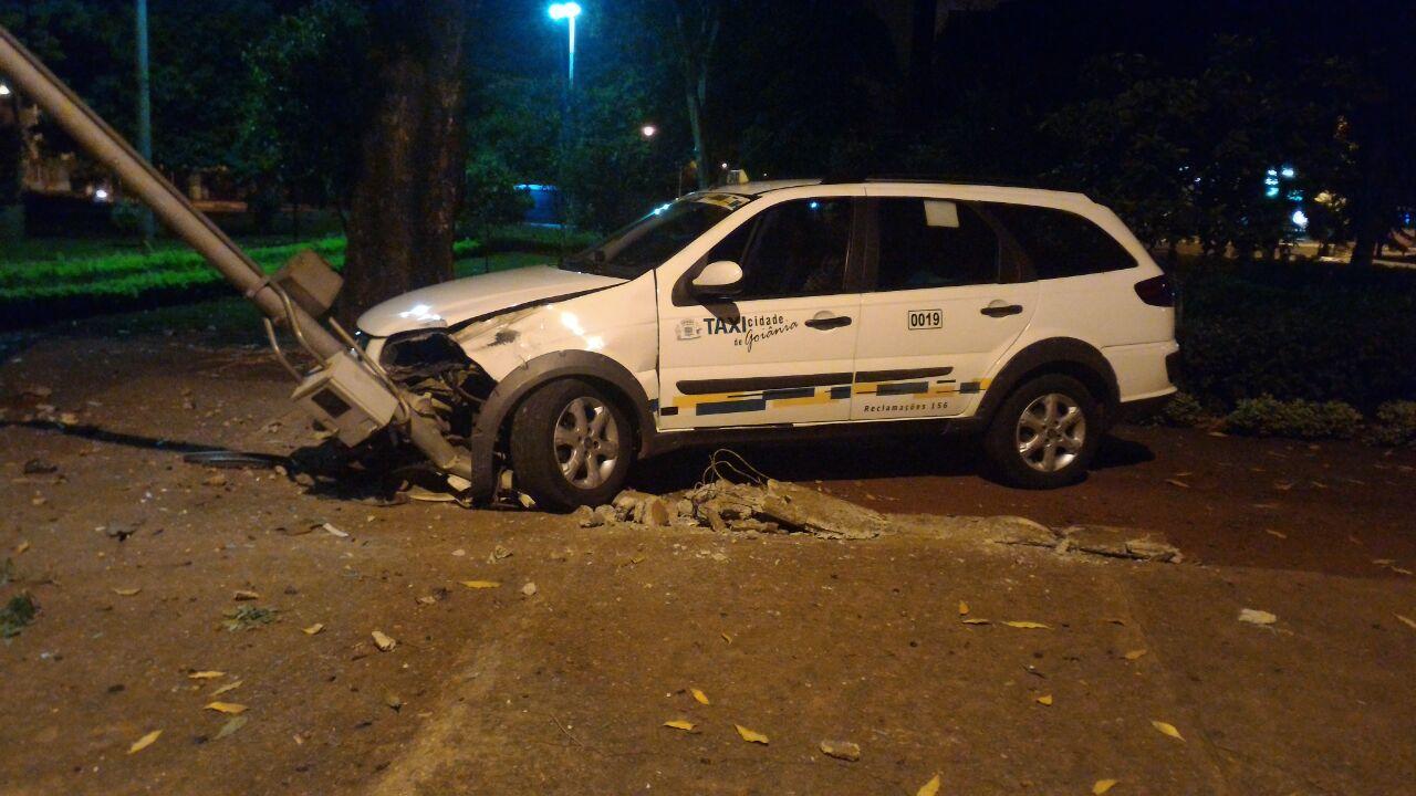 Homem tenta matar taxista e é preso pouco depois pela PM, no Setor Jardim América
