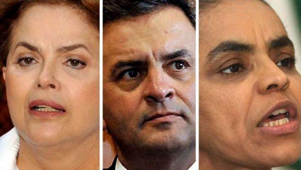 Num 2º turno, Dilma empata com Marina, mas vence Aécio