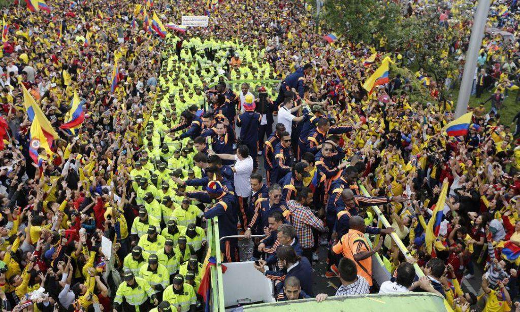 Festa na Colômbia no regresso da seleção