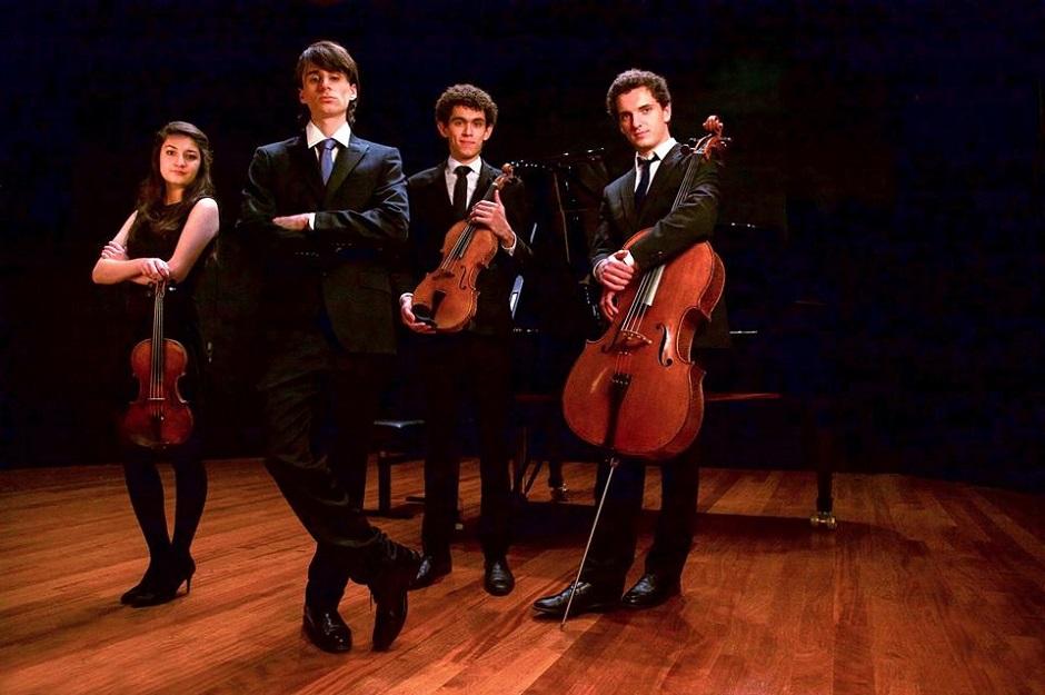 Aurora Piano Quartet, da Suíça, apresenta concerto de música de câmara