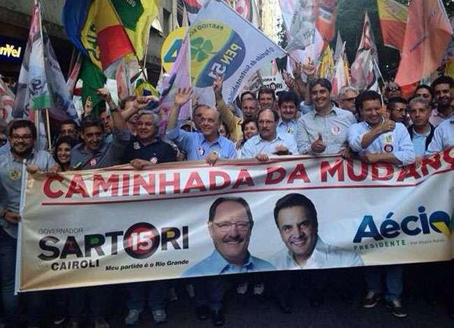 No RS, Serra fala de 'clima de vitória' de Aécio Neves