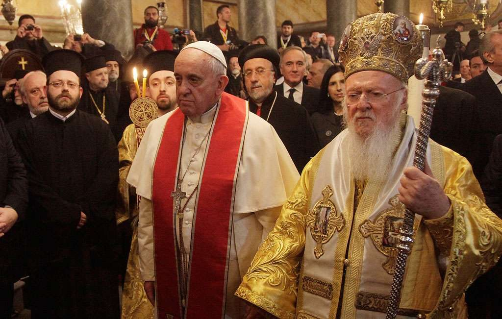 Papa Francisco e líder ortodoxo defendem reunificação das duas igrejas