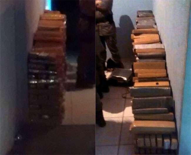 Polícia Militar apreende aproximadamente três toneladas de maconha