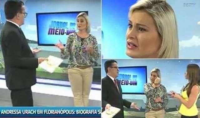 """Andressa Urach é chamada de """"sem vergonha"""" por apresentador"""