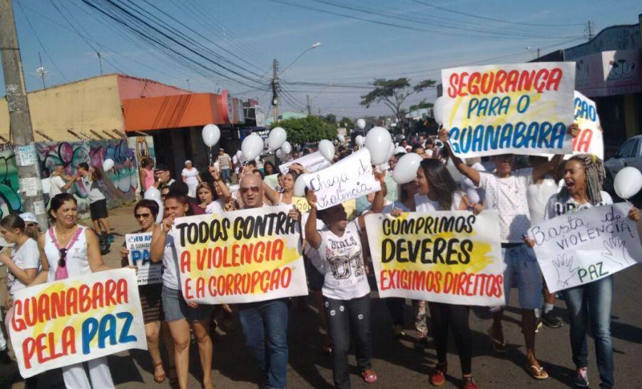 Moradores do Jardim Guanabara II vão às ruas pedir melhorias na segurança