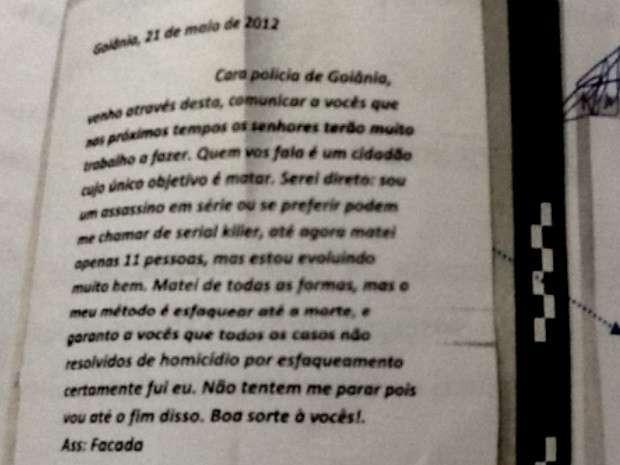 Em 2013, suposto serial killer enviou cartas à polícia se dizendo assassino