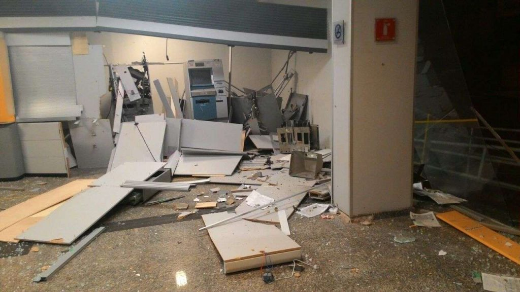 Bandidos explodem caixa eletrônico em Buriti Alegre