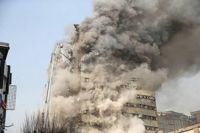 Desabamento de prédio em Teerã mata 30 bombeiros