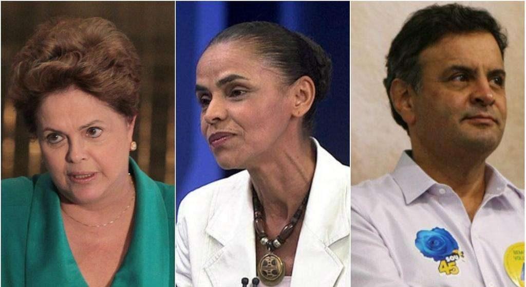 Dilma tem 36%, Marina, 33%, e Aécio, 15%, diz pesquisa Datafolha