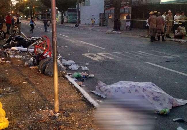 Ciclista morre após ser atropelado por motociclista em Goiânia