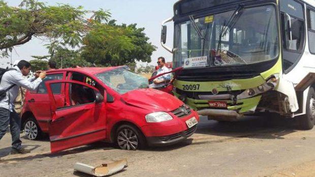 Três pessoas ficam feridas em acidente no Setor Norte Ferroviário